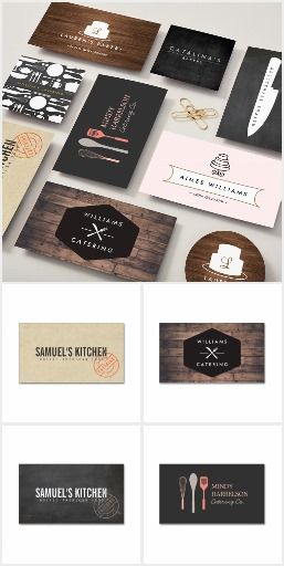 Unique and customizable business cards for catering companies, chefs, food businesses and restaurants. Designed by 1201AM. Easy to order. Fast shipping.