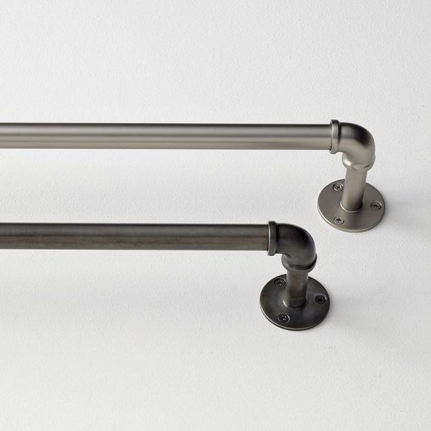 west elm industrial curtain rods, industrial pipe curtain rods