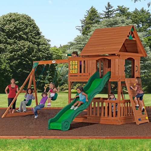Backyard Playset- Didn't Have One This Elaborate, Simple