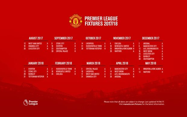 Fixtures 2017/18 - Official Manchester United Website