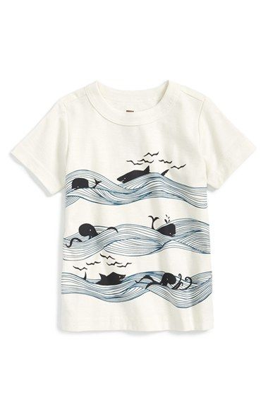 Tea Collection 'Whales & Waves' Graphic Cotton T-Shirt (Baby Boys) available at #Nordstrom
