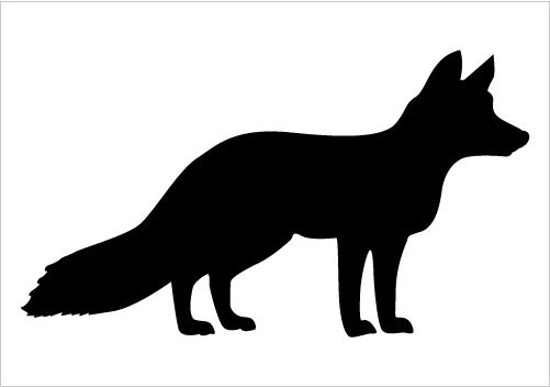 Fox Silhouette Vector Download Fox Vectors Silhouette Graphics
