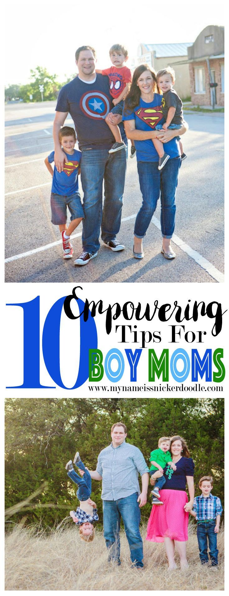 Being a mom of all boys can be tough, but here are a few tips to help you not only survive, but be super fabulous at it!  |  mynameissnickerdoodle.com