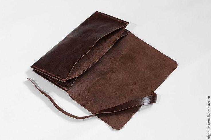 Купить Кошель-купюрник - коричневый, кошелек, кошелек из кожи, кошелек ручной работы, купюрница, подарок