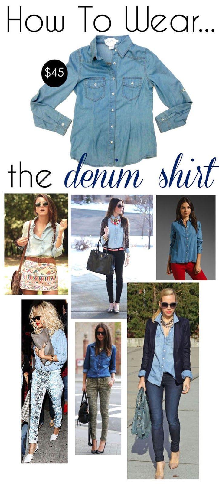 Sophie How To Wear The Denim Shirt How To Wear Denim