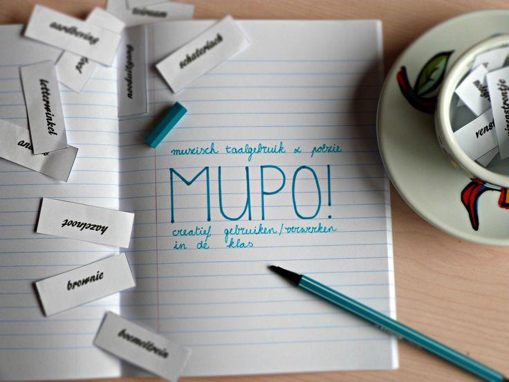 MUPO is een website waarop heel wat originele en vernieuwende lessen muzische opvoeding te vinden zijn. De focus ligt op muzisch taalgebruik en poëzie, maar dit integreren ze in de andere muzische domeinen én in bijvoorbeeld de leergebieden taal en wiskunde. Een échte aanrader! Dit is de link naar de site: http://mupo-muzischtaalgebruikenpoezie.weebly.com/ .