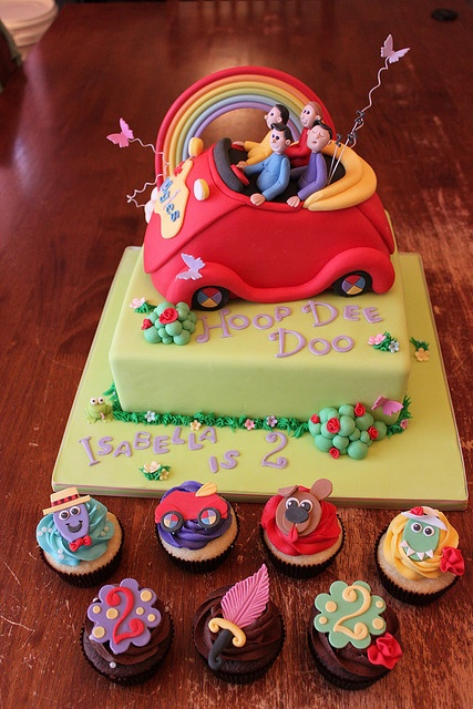 Wiggles cake and cupcakes