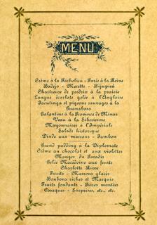 Menu do banquete do baile da ilha Fiscal Rio de Janeiro. [1889].