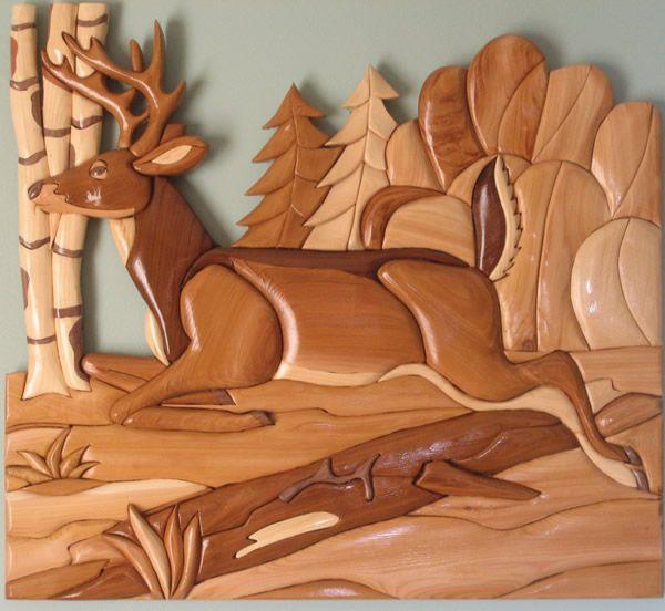 -Intarsia Project - Western Red Cedar, Pine, Walnut, and some Mahogany ...