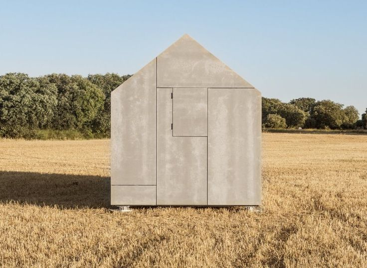 ÁPH80 portable pre-fabricated cottage - fibre cement board cladding - Ábaton