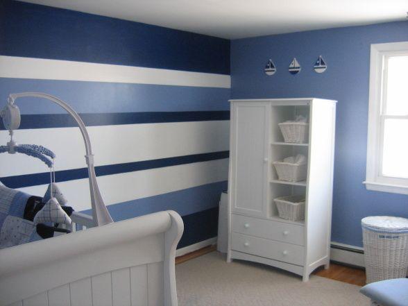 Best 25 Blue Striped Walls Ideas On Pinterest Boys