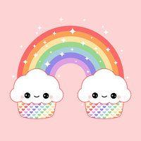 Kawaii Cupcake Rainbow by visionsofsugar