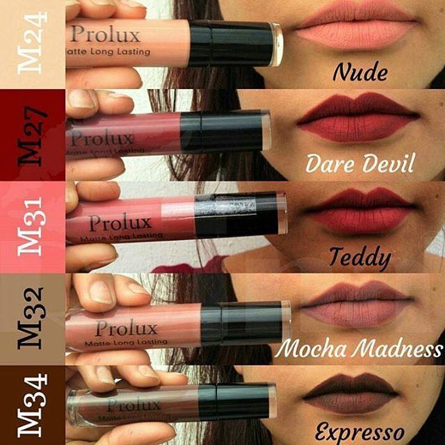 Ya llego la temporada de colores Calidos en Nuestros Labios ¡¡¡¡¡ ..... $350 Labial Prolux Liquido 😍😍 100% mate Alta pigmetacion #prolux #lips #lolitastyle #Disponibles