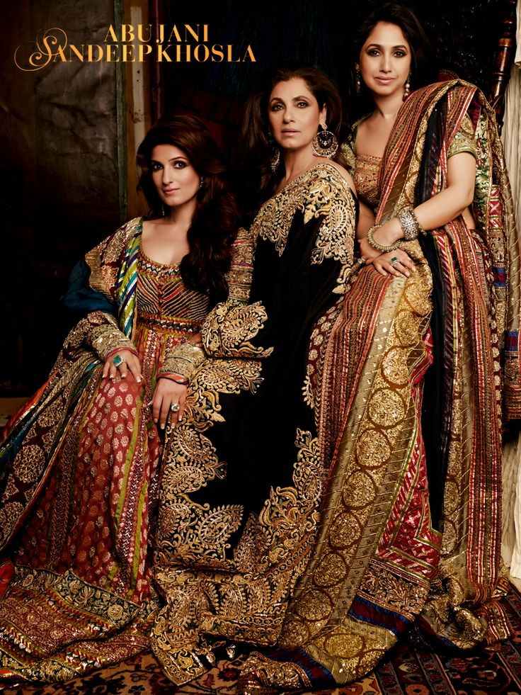 Like Mother, like Daughters The eternally gorgeous Dimple Kapadia with daughters Twinkle and Rinke in Abu Jani Sandeep Khosla.
