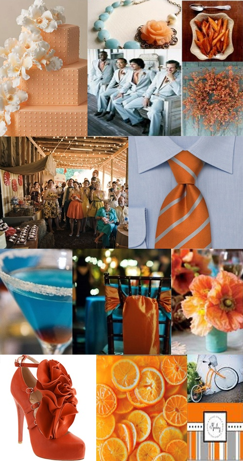 Orange and Blue Wedding<33  For my wedding, if it ever happens lol