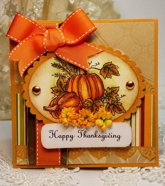 17 Best ideas about Handmade Thanksgiving Cards