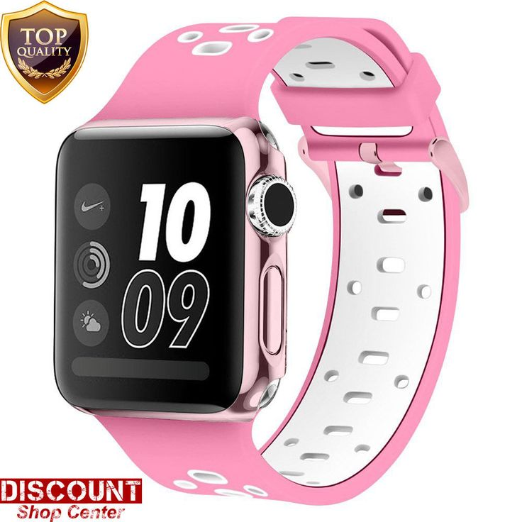 For Apple Watch Strap Band Sport 42mm Silicone Buckle Bracelet Wrist Series 2 3 #ForAppleWatchStrapBand