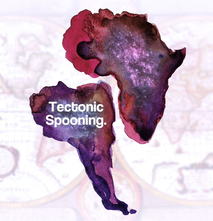 Tectonic Spooning #geography #geology #map