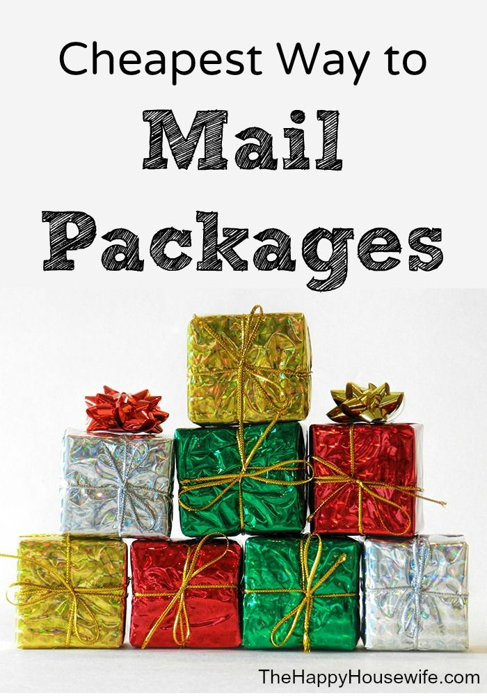 Find out the Cheapest Way to Mail Packages this holiday season! | The Happy Housewife