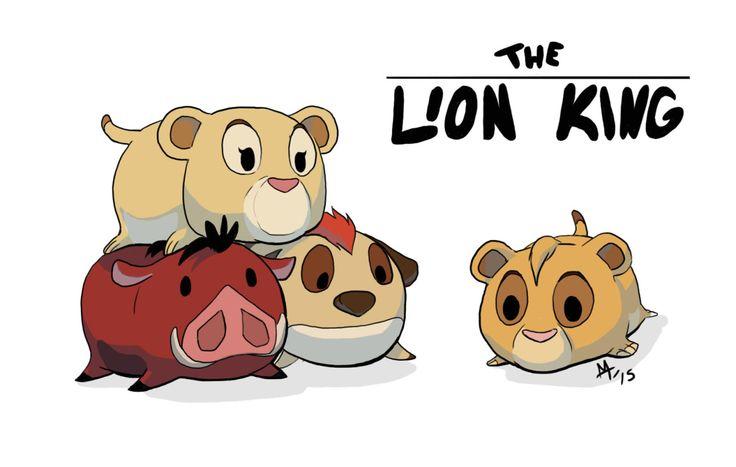 Disney Tsum Tsum Para Colorear Piglet Tusm Tusm: Lion King Tsum Tsum Fan Art