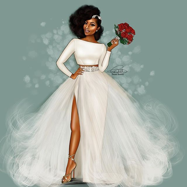 10 best images about dope art on pinterest black women for African wedding dresses for guests