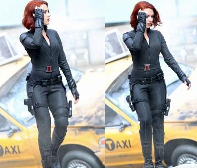 Scarlett Johansson in Avenger Costume