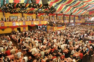 Oktoberfest. Festival celebrating beer held annually in Munich, Bavaria, Germany, running from late September to the first weekend in October. It is one of the most famous events in Germany and is the world's largest fair, with more than 6 million people from around the world attending the event every year.