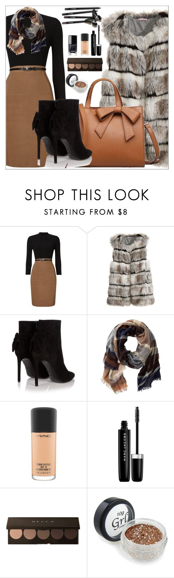 """WARM WINTER"" by nickooe-zhou ❤ liked on Polyvore featuring Phase Eight, Calypso St. Barth, Yves Saint Laurent, TravelSmith, MAC Cosmetics and Marc Jacobs"