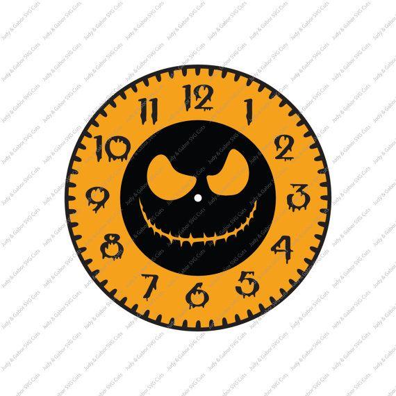 Halloween Vinyl Clock Figure SVG by JandGSVGcut on Etsy