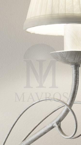 ΜΑΥΡΟΣ -- Rustic 2-bulb wall lamp   SANTORINI