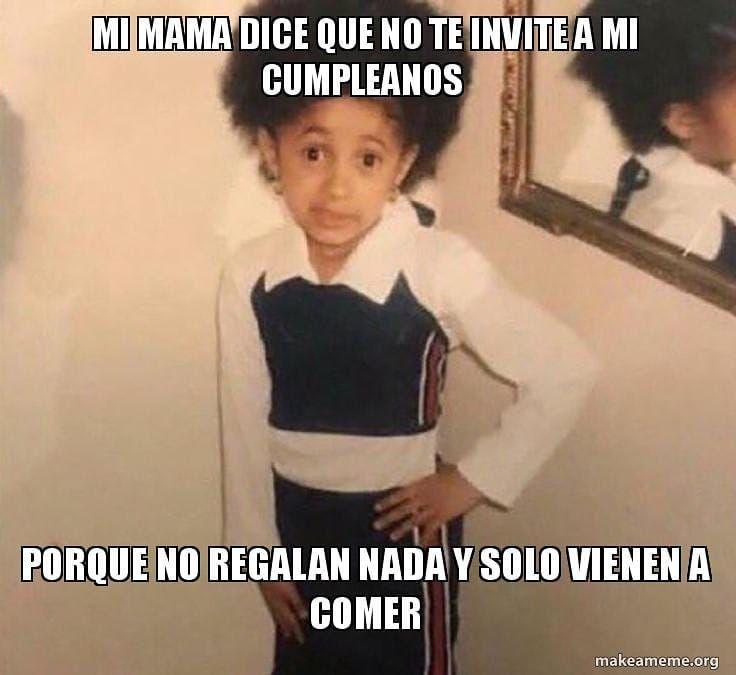 Es Que No Te Puedo Creer Que La Ninita Del Meme Es La Hermosa De Iamcardib Cuando Chiquita Me Muerooooo Ahora La A Top 10 Memes Cardi B Memes Dominican Memes