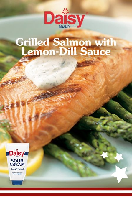 Who wants to spend hours manning the grill? Light and easy, this salmon served with a tangy sauce will ensure you've got plenty of time to celebrate with family and friends.