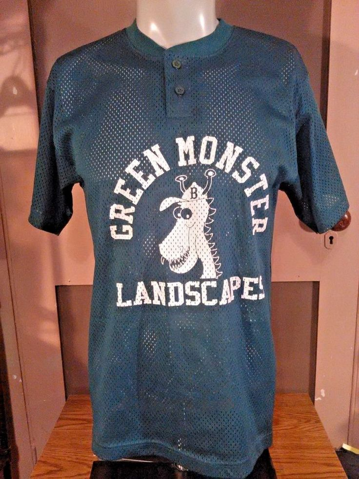 Green Monster Landscapes #13  baseball/softball jersey~Large | Clothing, Shoes & Accessories, Men's Clothing, Athletic Apparel | eBay!