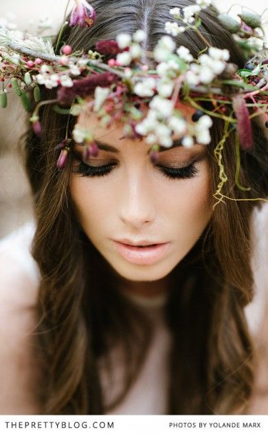 Floral crown ›› For more of these looks plus the latest beauty tips, trends and answers to your most asked beauty questions, visit our website at www.aestheticscollege.ca.