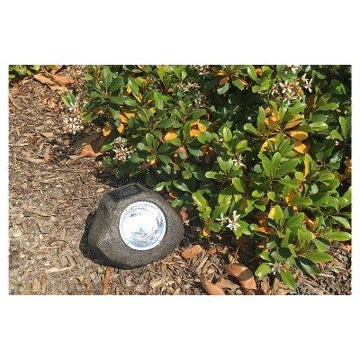 Paradise Garden Solar Powered Rock Spot Light 5 Lumen, Grey, Durable