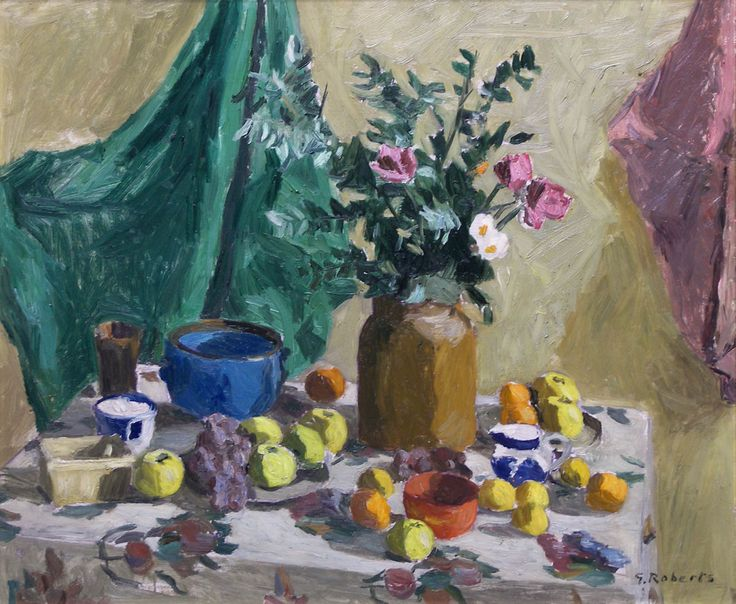 'Untitled Still Life', 1955, oil on panel by William Goodridge Roberts at Mayberry Fine Art