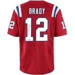 TOM BRADY Signed Authentic Autograph Reebok Home New England Patriots Jersey w/ TRISTAR Hologram & COA + Caseworks
