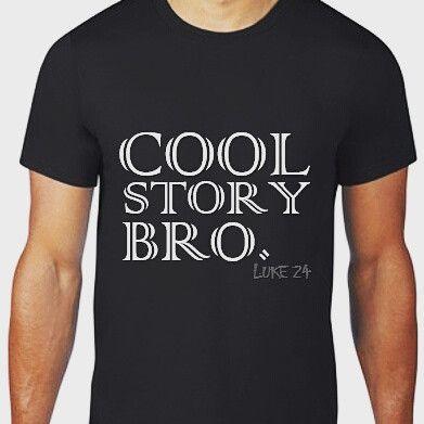 Cool story bro. mens black shirt