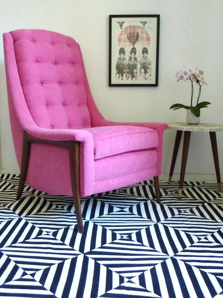 DIY: black & white extreme stripes painted rug