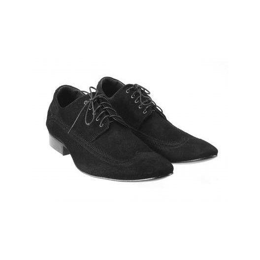 Pánske semišové spoločenské topánky čierne PT155 - manozo.hu