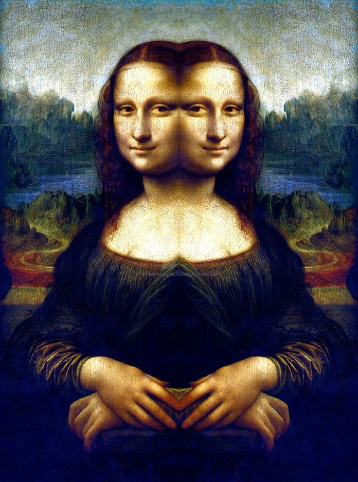 631 best (Mostly) Mona Lisa images on Pinterest | Mona ... Da Vinci Paintings Mirrored