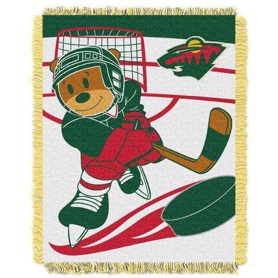 Northwest Co. NHL Wild Baby Woven Throw Blanket