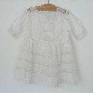 vintage cotton + lace dress: White Cotton Dresses, Vintage, Christening Gowns, White Lace Dresses, Baby Gowns, Children Clothing, Christening Bapt Gowns, Heirloom Dresses, Cotton Lace