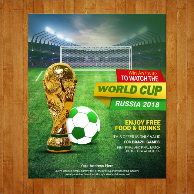 Football Cup Poster Football Poster World Cup Brazil World Cup