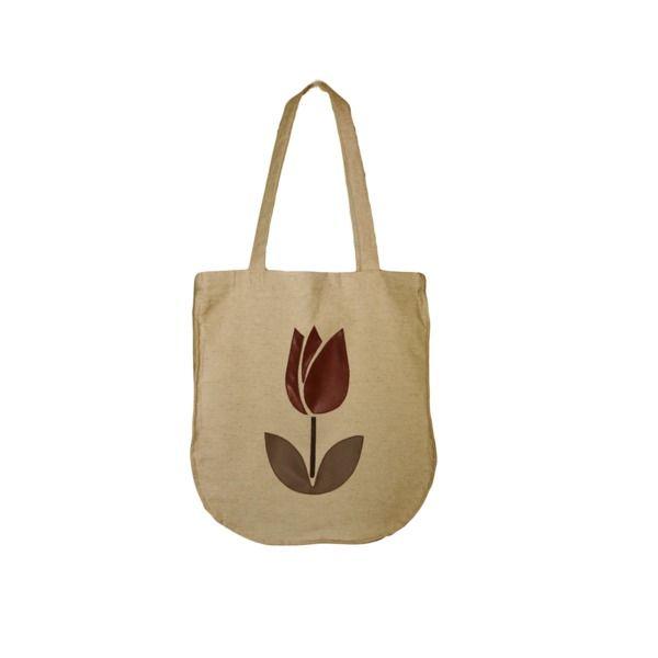 Lniana Torba na zakupy NATURAL BAGS - tulip w HANAKO na DaWanda.com