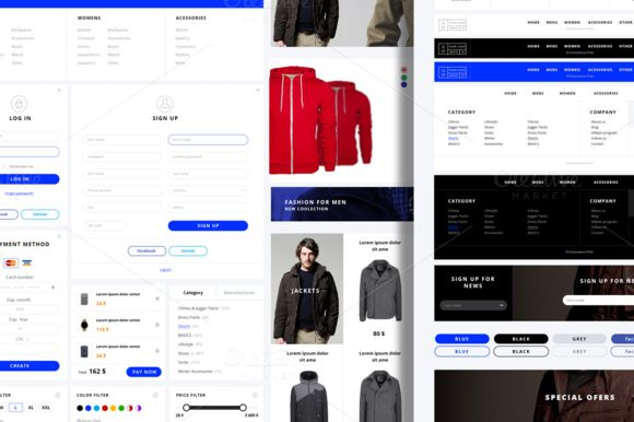 Marcoo ecommerce UI kit by Marcoo on Creative Market