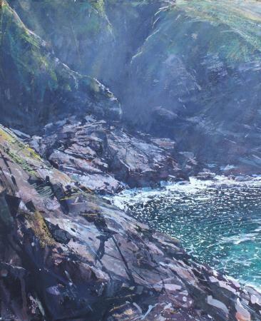 Pendeen Cliffs by Paul Lewin, Mixed Media, 574x467mm, 2013