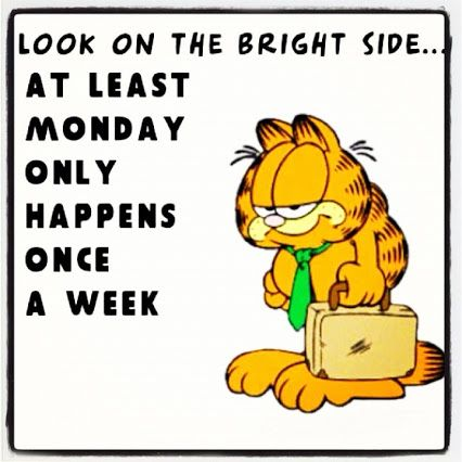 monday only happens once a week funny garfield days of the week mondays humor