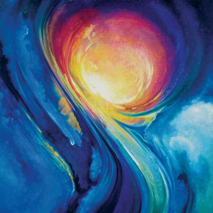 Kingdom of the Sun - you can feel the heat emanating out of the blue.... Like Rassouli's work..