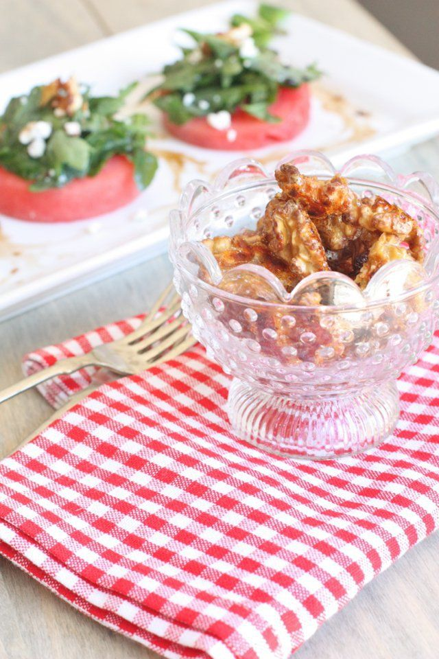Recipe for spiced candied walnuts